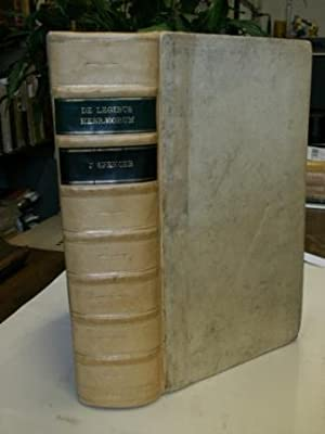 DE LEGIBUS HEBRAEORUM RITUALIBUS EARUMQUE RATIONIBUS LIBRI: Spencer John