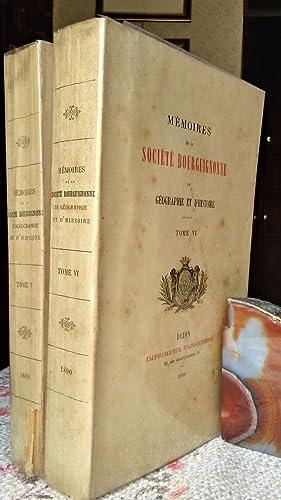 MEMOIRES DE LA SOCIETÉ BOURGUIGNONNE DE GEOGRAPHIE ET D'HISTOIRE. TOME V - TOME VI: Aa. Vv.