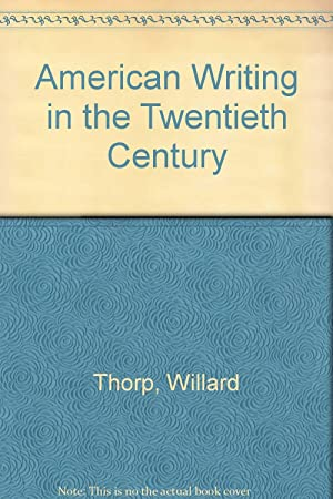 American Writing In The Twentieth Century