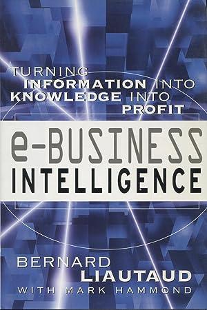 E-Business Intelligence: Turning Information into Knowledge into Profit: Liautaud, Bernard;Hammond,...