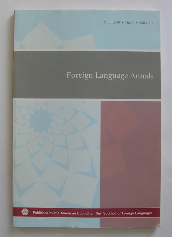 FOREIGN LANGUAGE ANNALS PDF DOWNLOAD