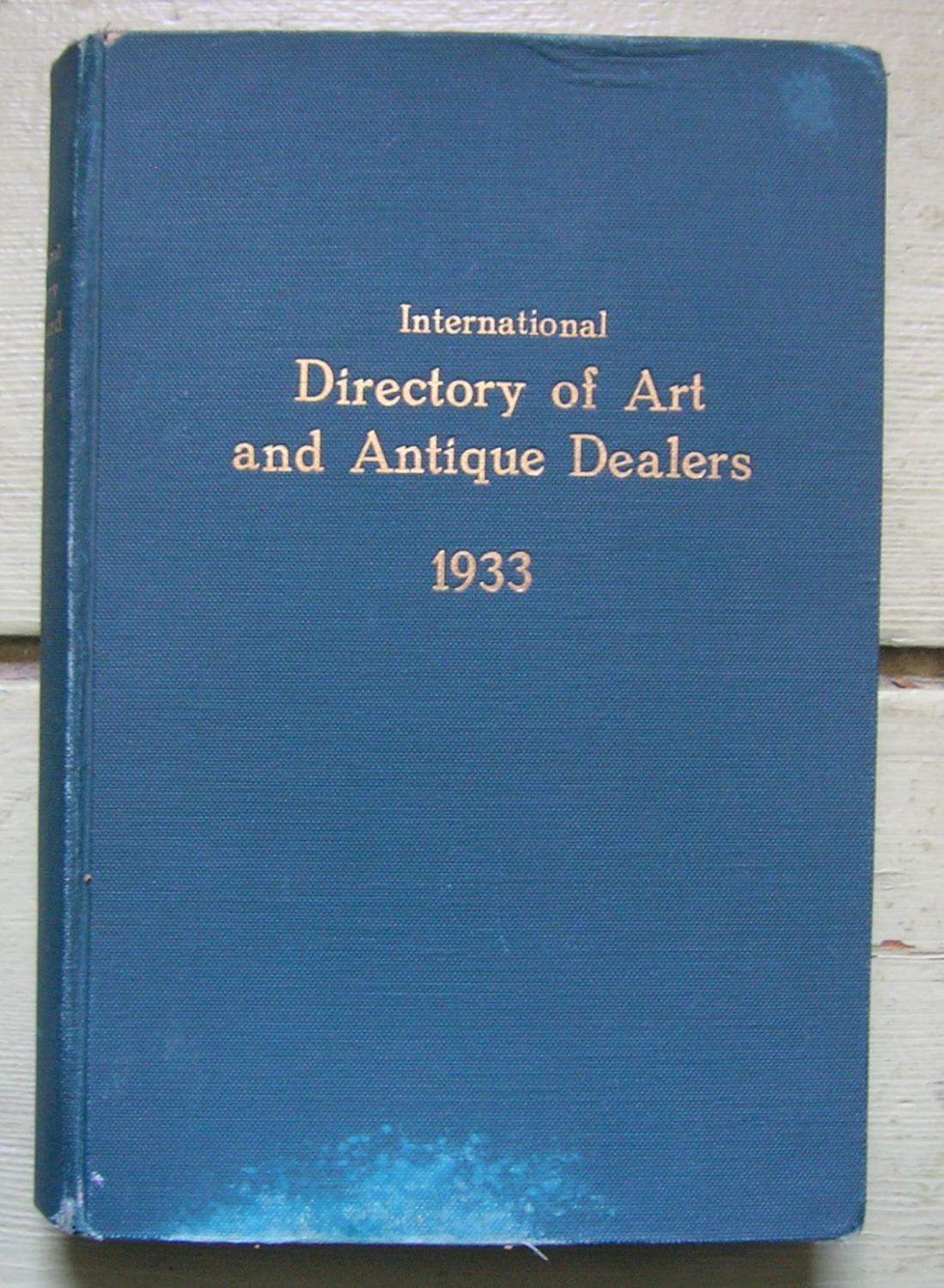 International Directory of Art and Antique