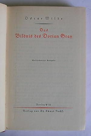 Das Bildnis des Dorian Gray.: Wilde, Oscar.