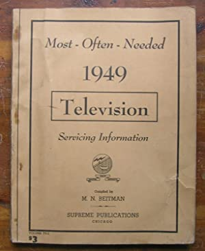 Most-Often-Needed 1949 Television Servicing Information.: Compiled by M.