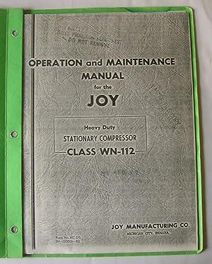 Joy Industrial Compressors. [2 folders]: Industrial Machinery Division, Cooper Industries.