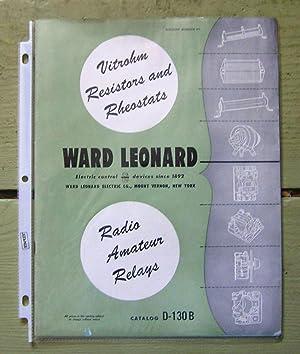 Ward Leonard Vitrohm Resistors and Rheostats.: Ward Leonard Electric Co.