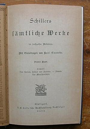 Schiller's Samtliche Werke. [Dritter Band, volume 3: Schiller, Friedrich.
