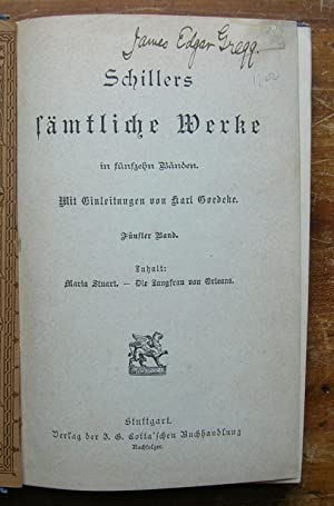 Schiller's Samtliche Werke. [volume 5 only]: Schiller, Friedrich.