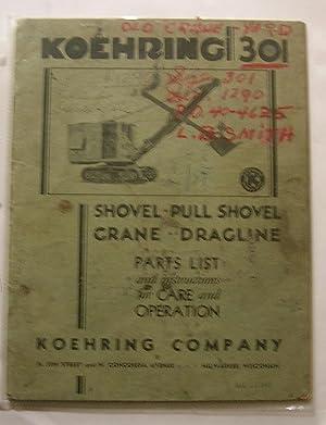 Koehring 301/376 Shovel - Pull Shovel -