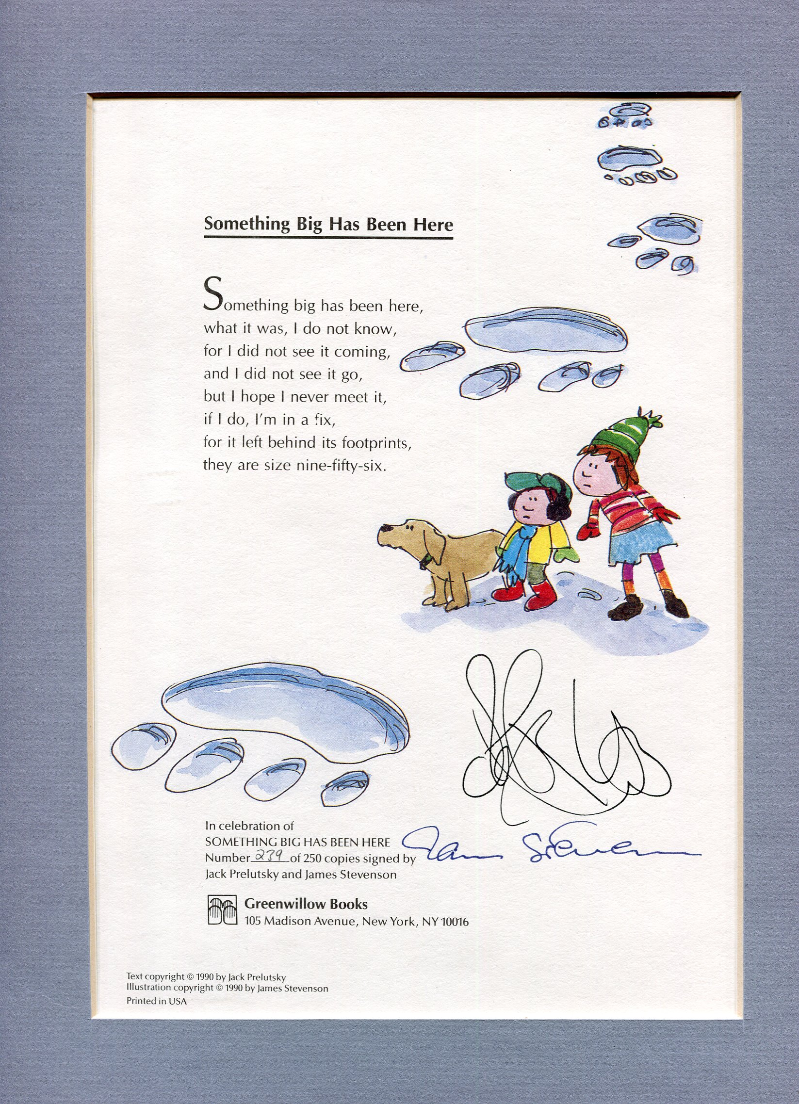 Huge 1990s Bi Level Remodel: A SIGNED & NUMBERED Broadside From SOMETHING BIG HAS BEEN