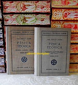 FÍSICA TEÓRICA (2 Vols) . Vol I: Jager, Gustav