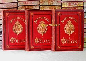 MONUMENTO A COLON . HISTORIA DE LA VIDA Y VIAJES DE CRISTÓBAL COLON . Continuada con ...