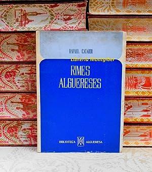 RIMES ALGUERESES . Poesies en vernacle alguerès: Catardi, Rafael