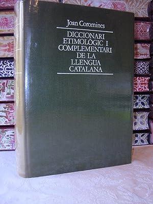 DICCIONARI ETIMOLOGIC I COMPLEMENTARI DE LA LLENGUA CATALANA. VOLUM II. BO-CU: Coromines, Joan