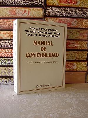 MANUAL DE CONTABILIDAD: Vela Pastor / Montesinos Julve / Serra Salvador