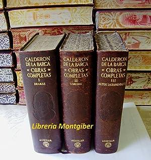 OBRAS COMPLETAS . ( 3 Vol.) .: Calderon de la