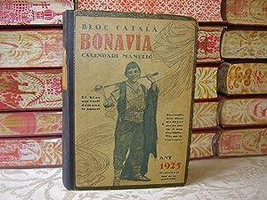 BLOC CATALÀ . BONAVIA. CALENDARI MANELIC Any 1925 .