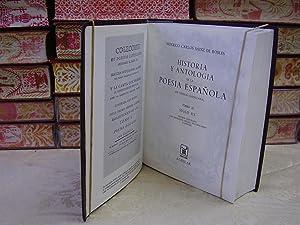HISTORIA Y ANTOLOGIA DE LA POESIA ESPAÑOLA . En lengua castellana. Tomo II . Siglo XX: Sainz...
