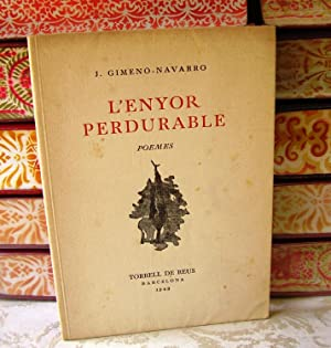 L'ENYOR PERDURABLE. POEMES: Gimeno-Navarro, J.