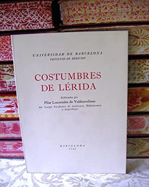 COSTUMBRES DE LERIDA .: Loscertales de Valdeavellano, Pilar