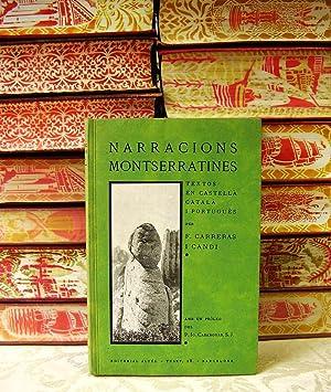 NARRACIONS MONTSERRATINES .: Carreras i Candi, Francisco
