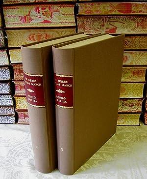 LES OBRES D'AUZIAS MARCH . Edició crítica per Amadeu Pagès . ( 2 Vols ) ....