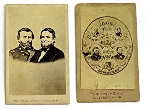 Two 1868 Carte de Visite Jugates