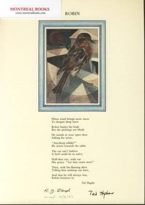 Robin (Broadside Print) -- from The Cat and the Cuckoo