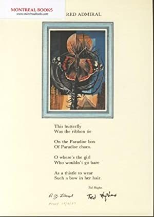 The Red Admiral (Broadside Print) -- from The Cat and the Cuckoo
