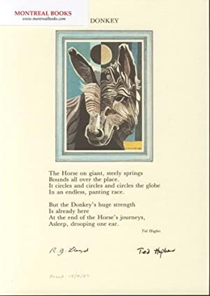 Donkey (Broadside Print) -- from The Cat and the Cuckoo
