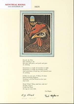 Hen (Broadside Print) -- from The Cat and the Cuckoo