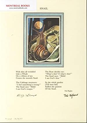 Snail (Broadside Print) -- from The Cat and the Cuckoo