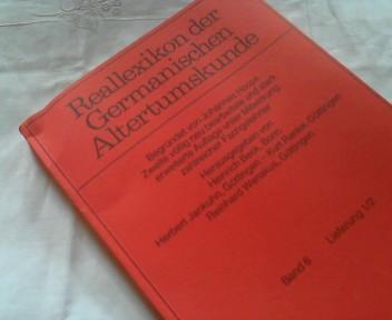 Reallexikon der Germanischen Altertumskunde Band 6 ,: Hoops, Johannes (