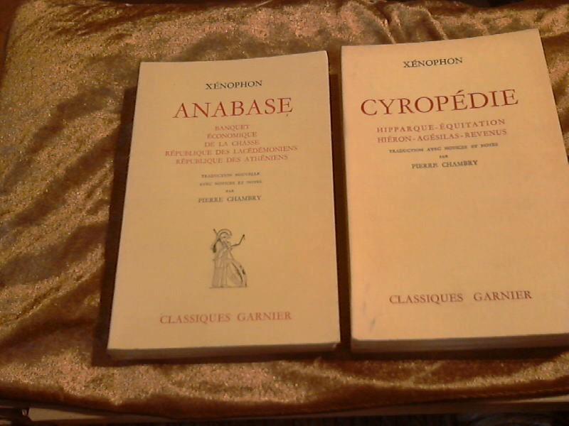 2 Vols. ; CYROPEDIE, HIPPARQUE, EQUITATION, HIERON,: Xenophon: