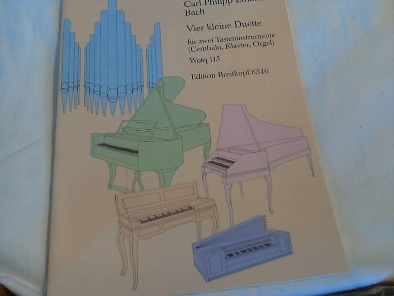 4 kleine Duette für zwei Tasteninstrumente Wq: Carl, Philipp Emanuel
