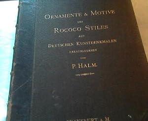 Ornamente & Motive des Rococo-Stiles aus deutschen: Halm, Peter: