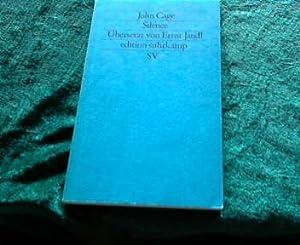 Silence. 1477 Neue Folge Bd. 477: Cage, John: