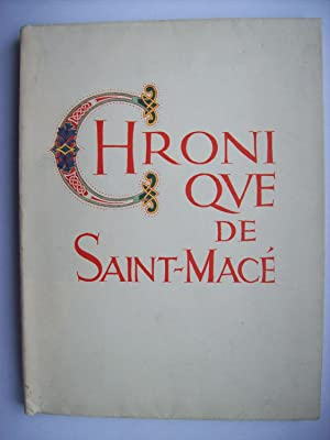 Chronique de Saint-Macé, illustrations de Maurice Pouzet.: ISOLLE Jacques