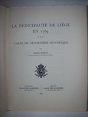 La principauté de Liège en 1789, carte: RUWET Joseph