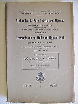 Exploration du Parc National de l'Upemba, mission: VAN MEEL Ludo