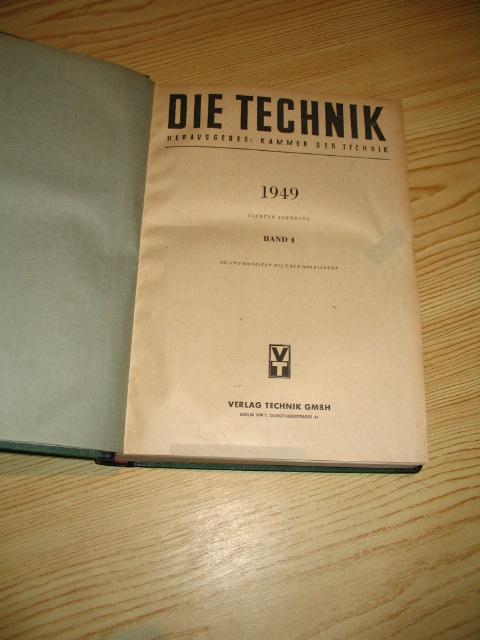 Die Technik 1949,: Kammer der Technik: