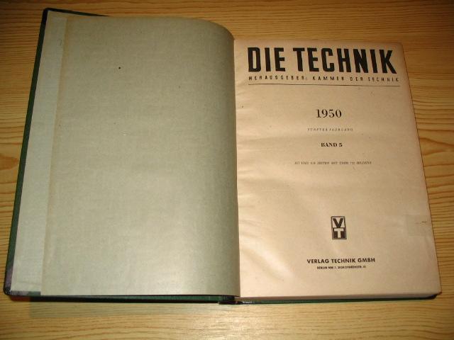 Die Technik 1950,: Kammer der Technik: