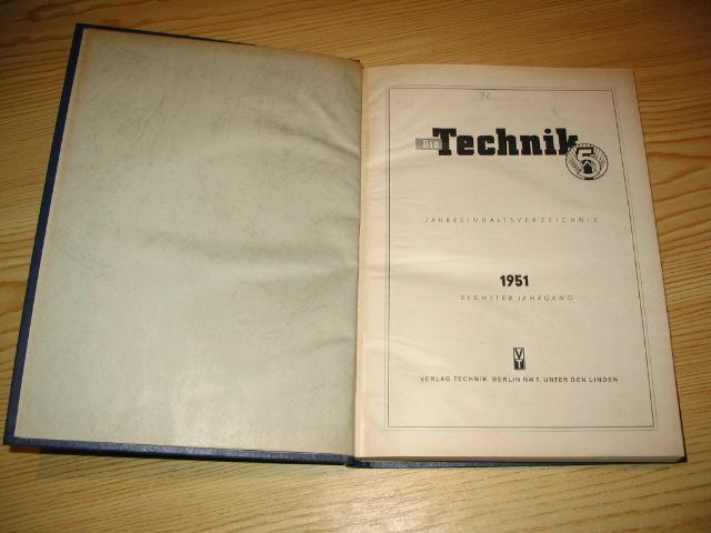 Die Technik 1951,: Kammer der Technik: