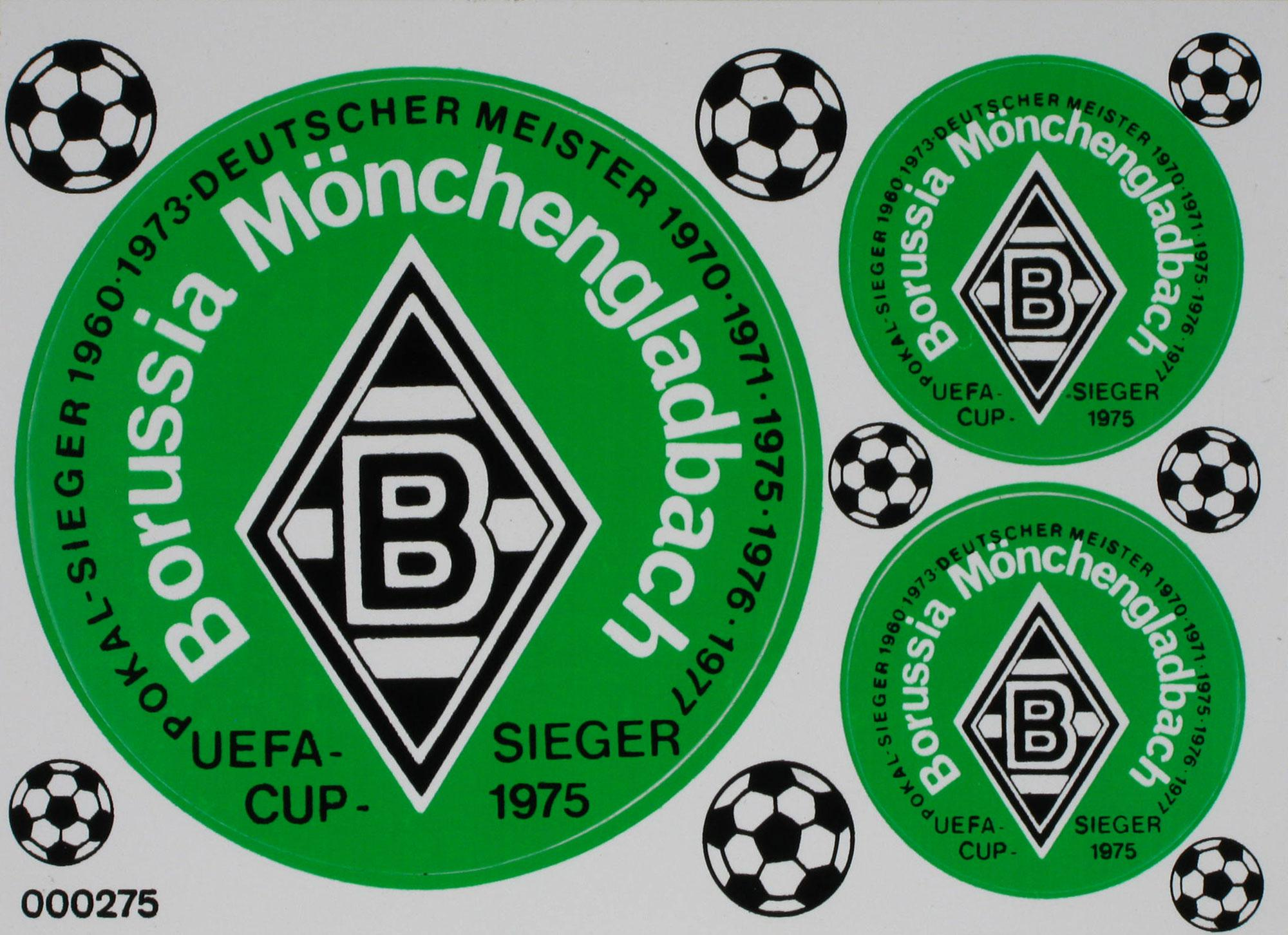 Aufkleber Postkarte Borussia Mönchengladbach