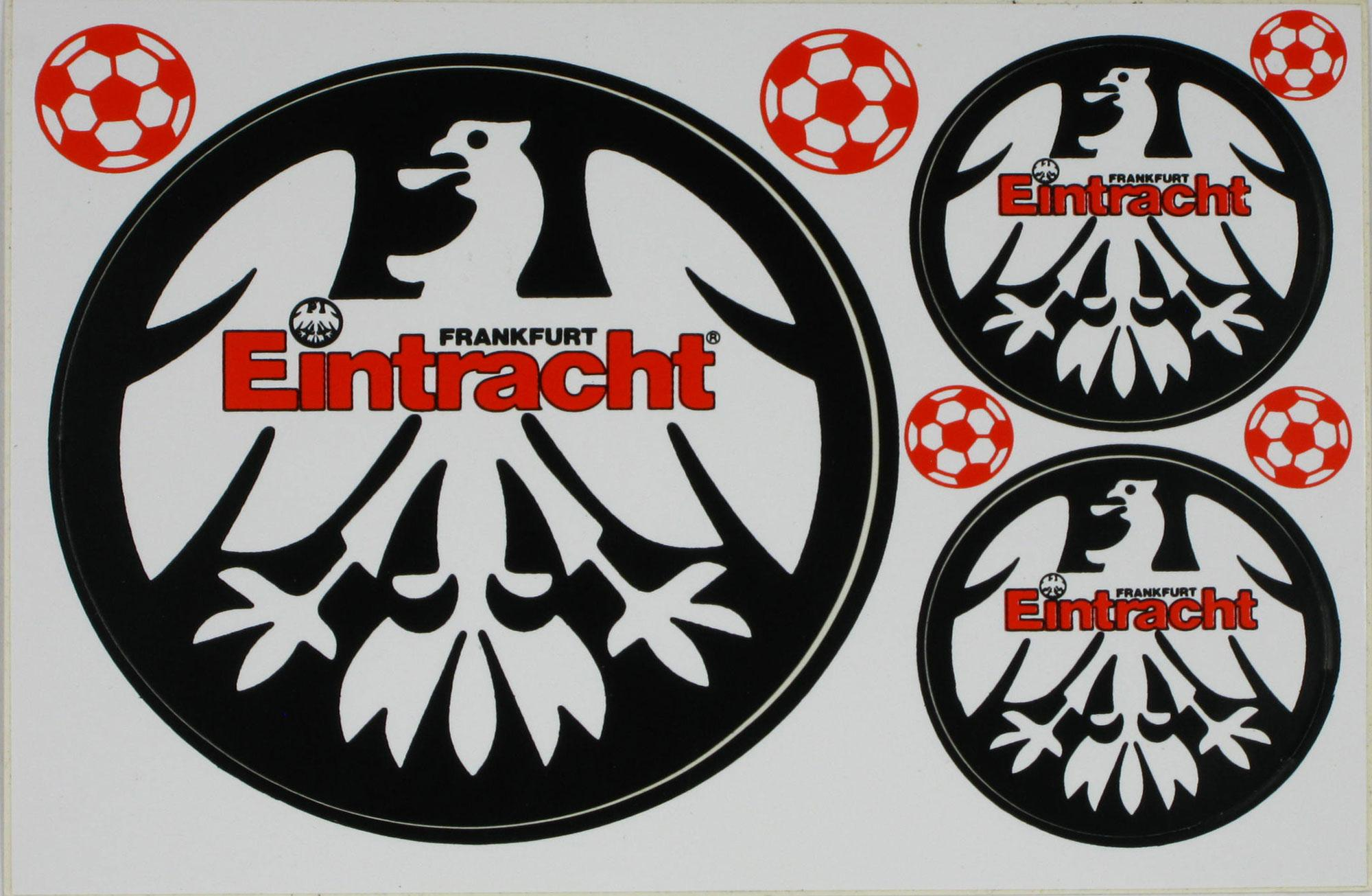 Aufkleber Postkarte Eintracht Frankfurt