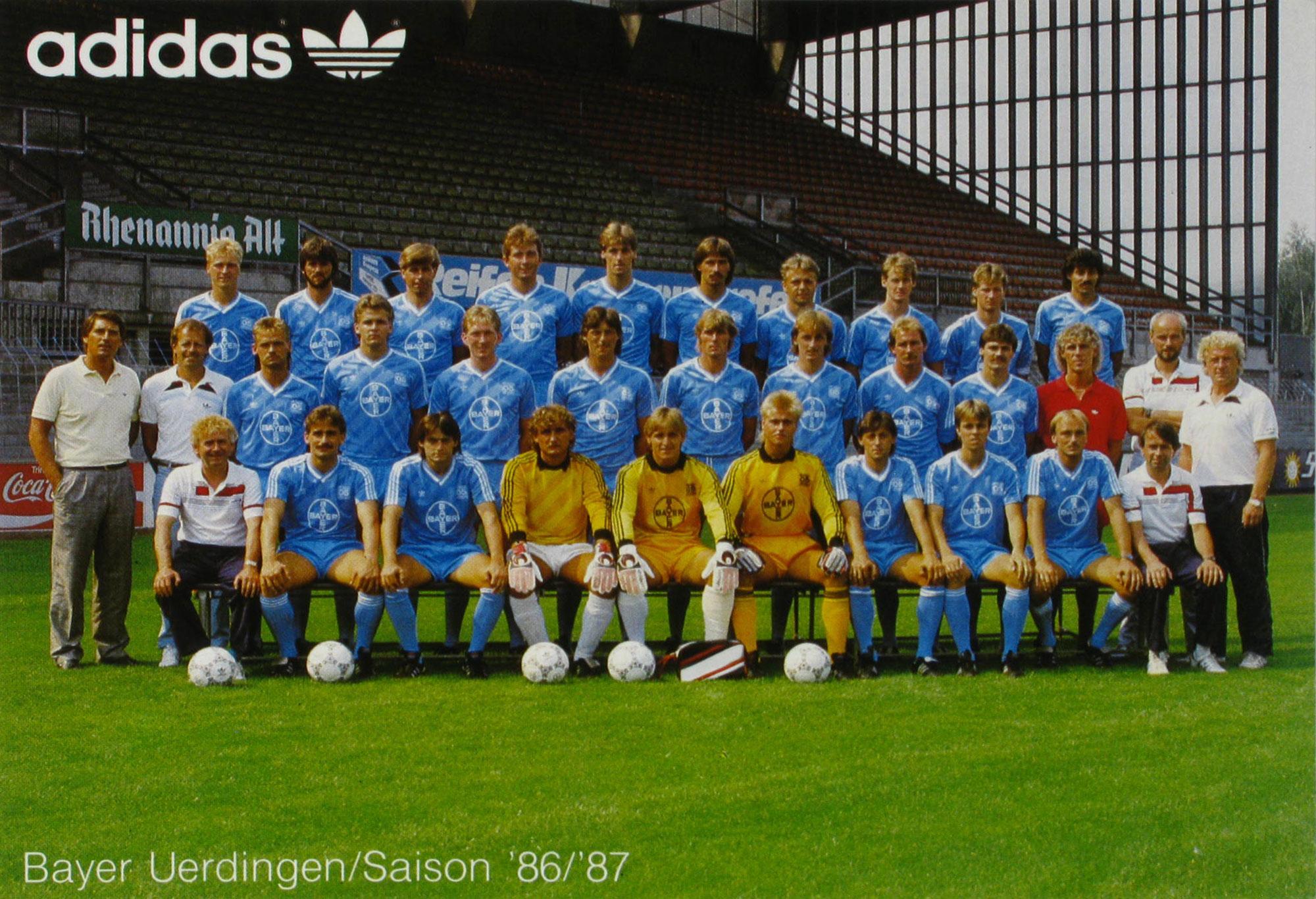 Mannschaftsbild Saison 86/87