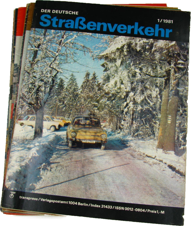 Der deutsche Straßenverkehr (Jahrgang 1981),: transpress, VEB Verlag