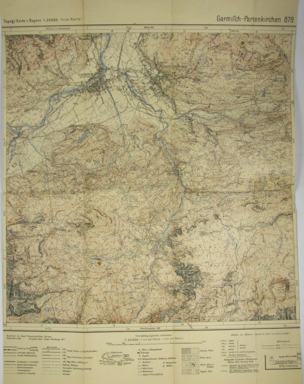 Topographische Karte Bayern.Topographische Karte V Bayern