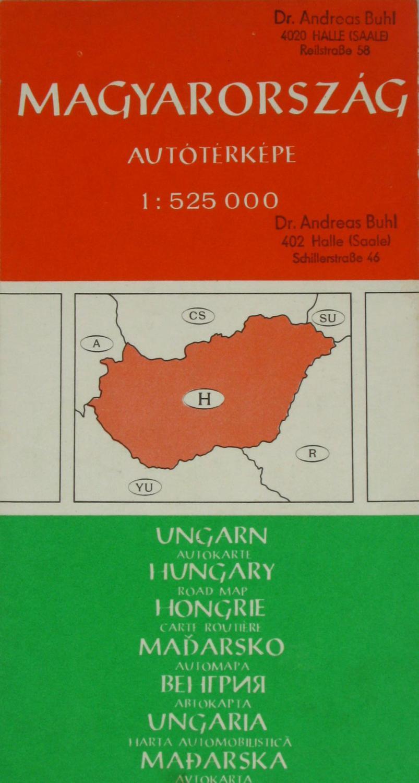 Autokarte Ungarn (Autoterkepe Magyarorszag),