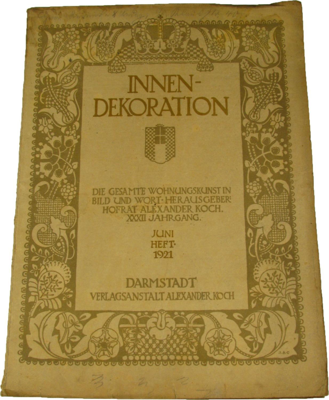 Innen dekoration die gesamte zvab for Innendekoration die gesamte wohnungskunst in bild und wort